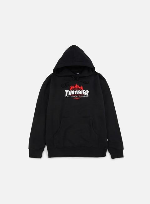 felpe huf thrasher tds hoodie black