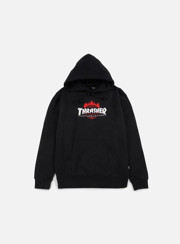 Huf - Thrasher TDS Hoodie, Black
