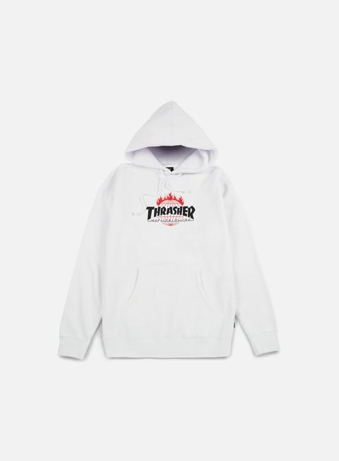 felpe huf thrasher tds hoodie white