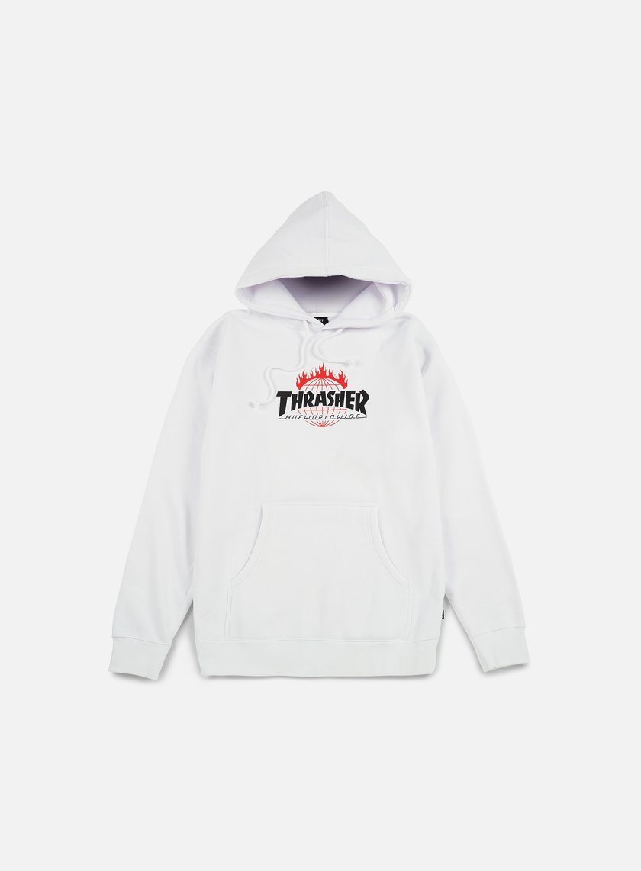 Huf - Thrasher TDS Hoodie, White