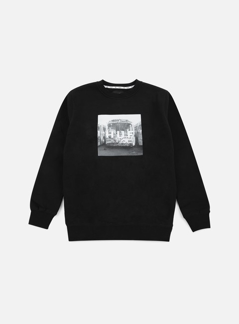 Sale Outlet Crewneck Sweatshirts Huf Transit Box Logo Crewneck