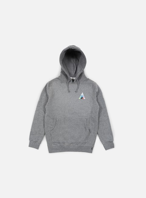 felpe huf triangle prism hoodie grey heather