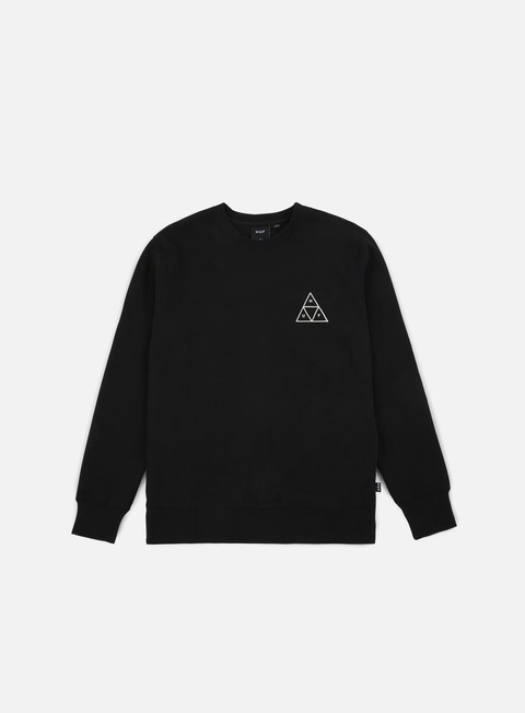 felpe huf triple triangle crewneck black