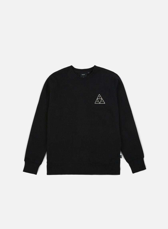 Huf - Triple Triangle Crewneck, Black
