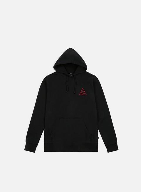felpe huf tt over dye hoodie black