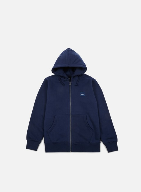 Sale Outlet Hooded Sweatshirts Huf Woven Label Zip Hoodie