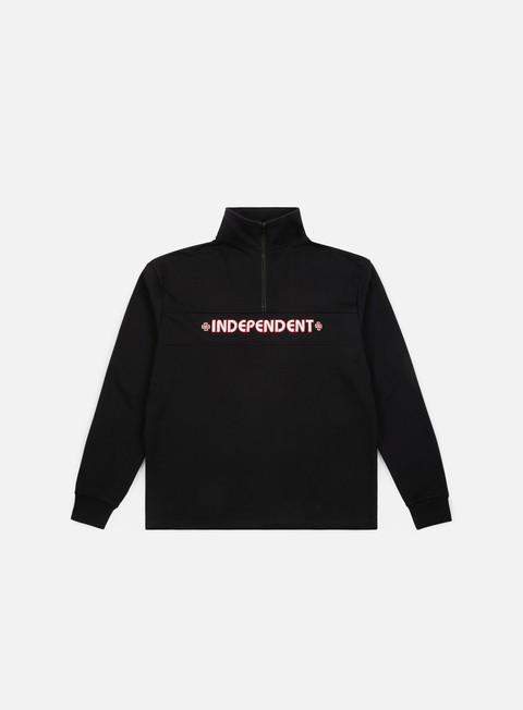 felpe independent bar 1 4 zip crewneck black