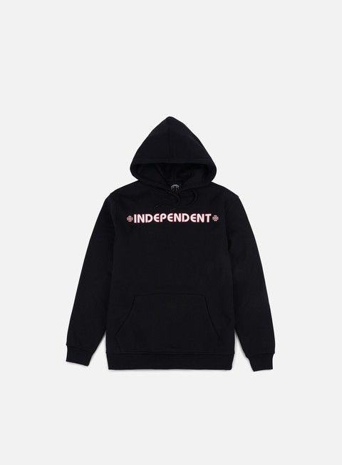 felpe independent bar cross hoodie black