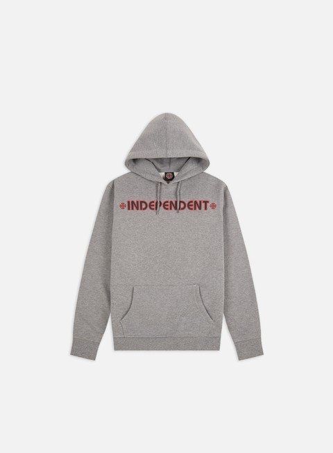 felpe independent bar cross hoodie dark heather