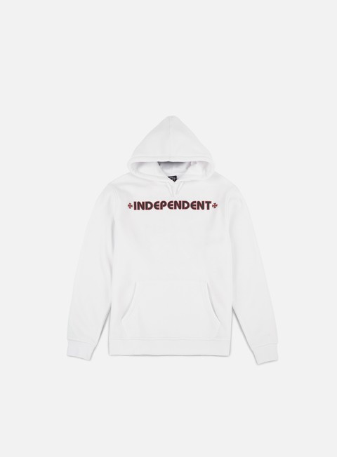 felpe independent bar cross hoodie white