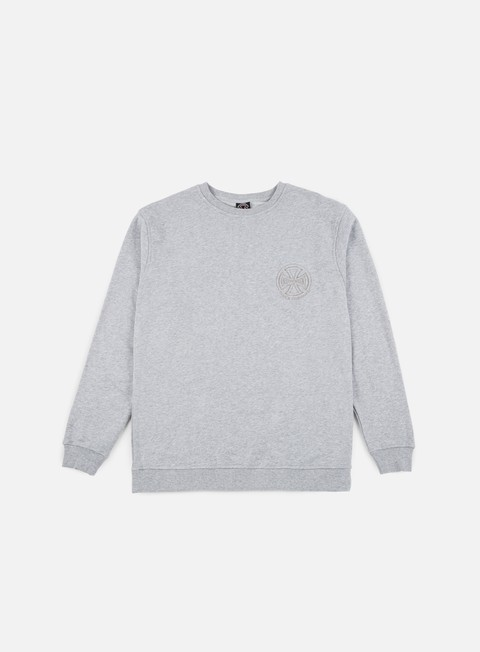 felpe independent tonal truck co crewneck athletic heather