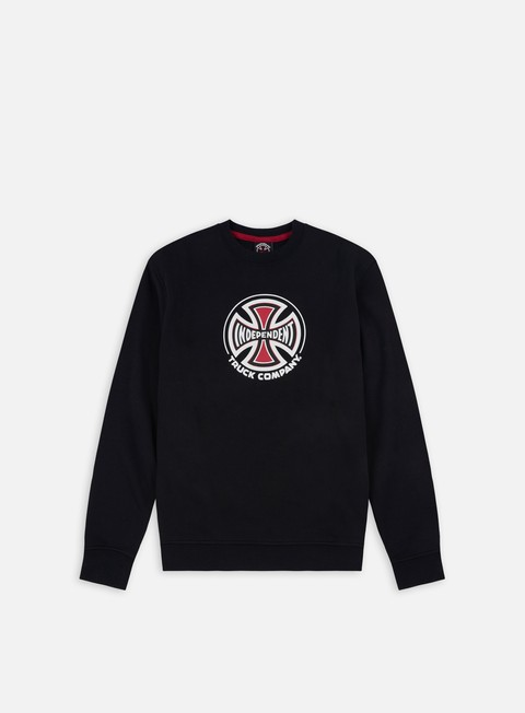 felpe independent truck co crewneck black