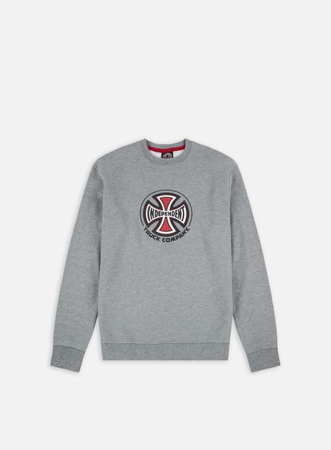 felpe independent truck co crewneck dark heather