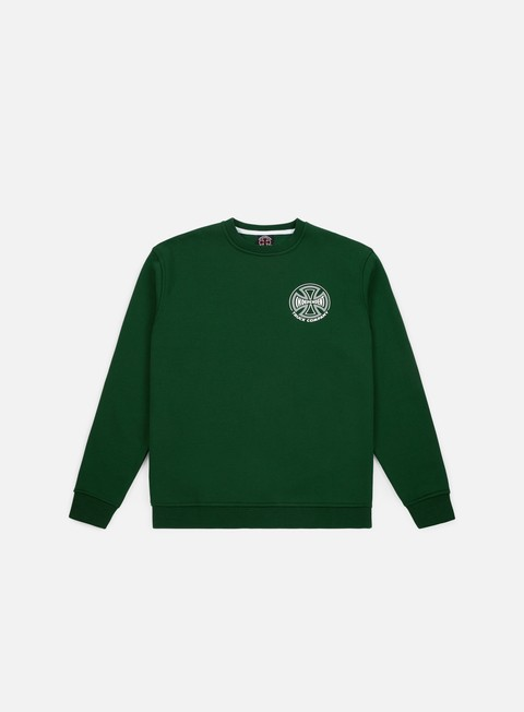 felpe independent two tone crewneck forest green