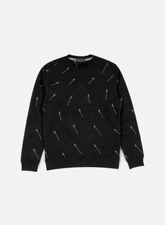 Iuter - Arrow All Over Embroidered Crewneck, Black 1