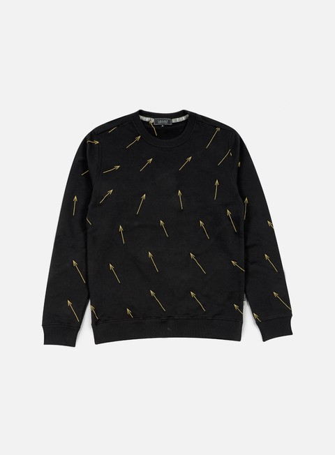felpe iuter arrow all over embroidered crewneck black