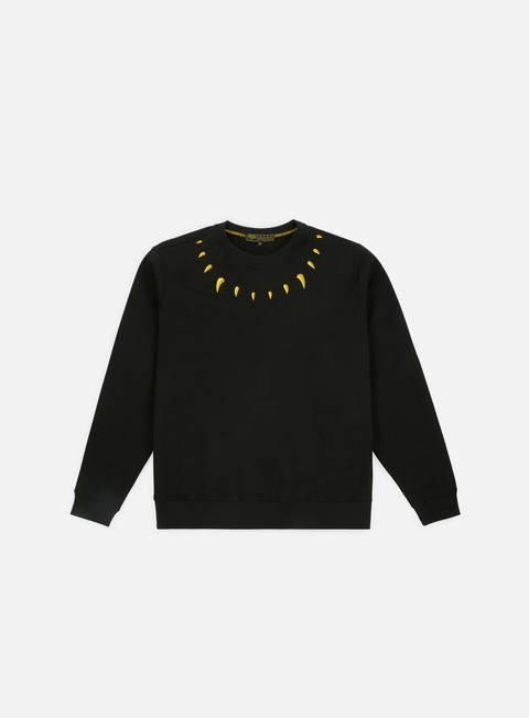 felpe iuter claws crewneck black yellow