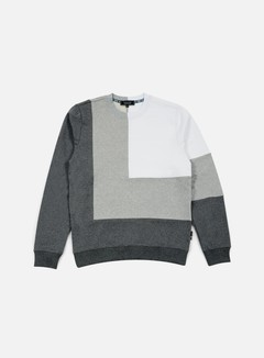 Iuter - Double Corner Square Insert Crewneck, Dark Grey 1