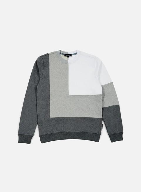 felpe iuter double corner square insert crewneck dark grey