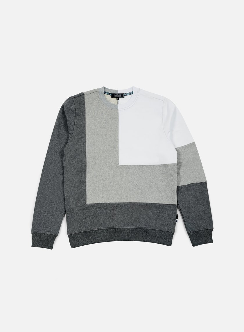 Iuter - Double Corner Square Insert Crewneck, Dark Grey