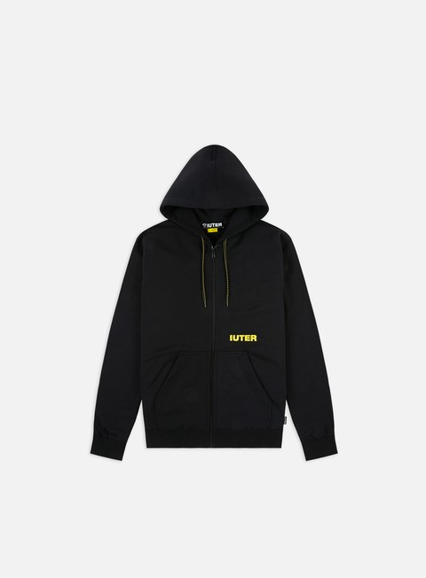 Hooded Sweatshirts Iuter Double Logo Zip Hoodie