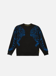 Iuter - Double Nepal Crewneck, Black/Blue