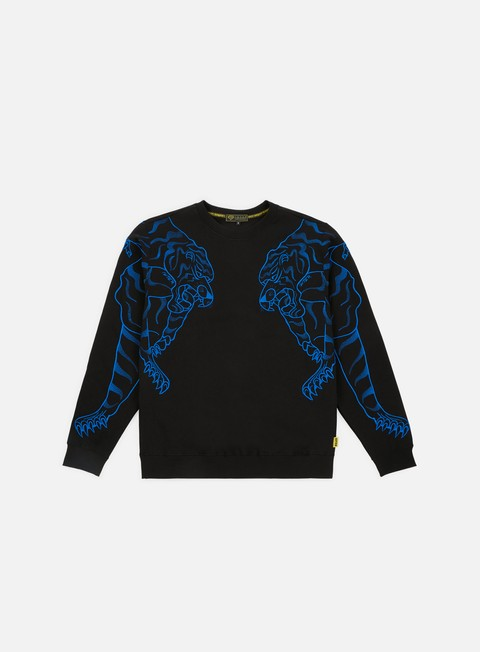 felpe iuter double nepal crewneck black blue