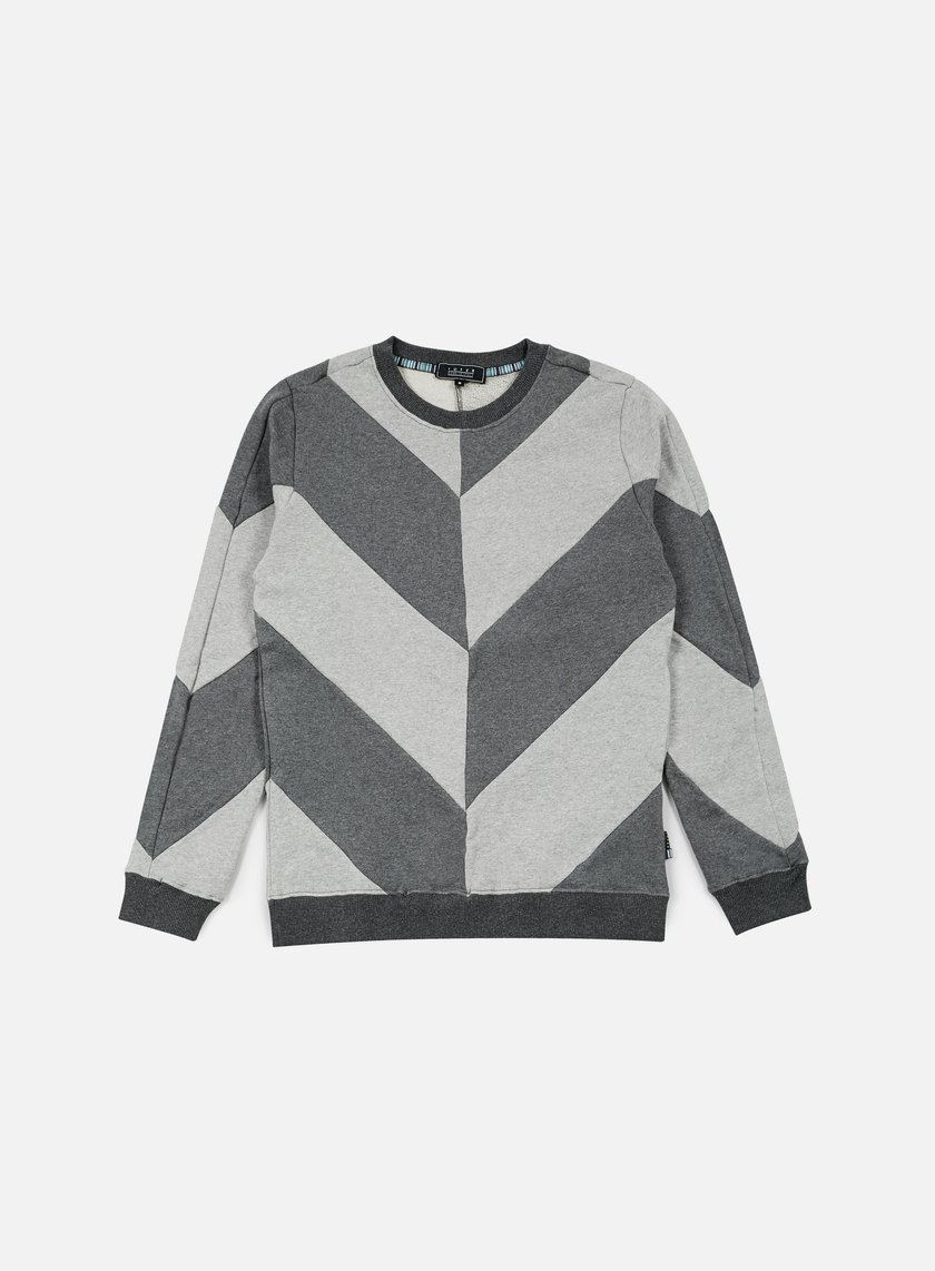 Iuter - Five Vee Insert Crewneck, Dark Grey/White