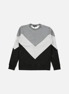 Iuter - Five Vee Insert Crewneck, Light Grey