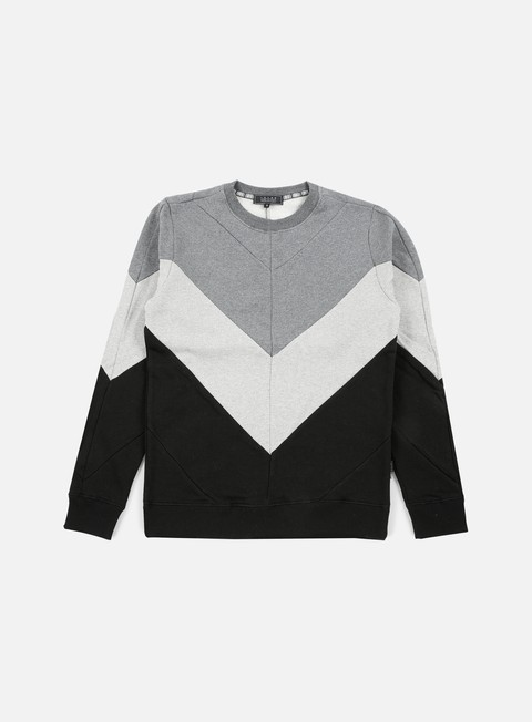 felpe iuter five vee insert crewneck light grey
