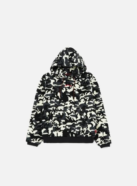 felpe iuter furry camo hoodie dark grey