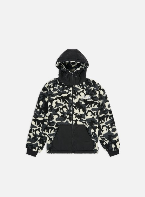 Sweaters and Fleeces Iuter Furry Camo Zip Hoodie