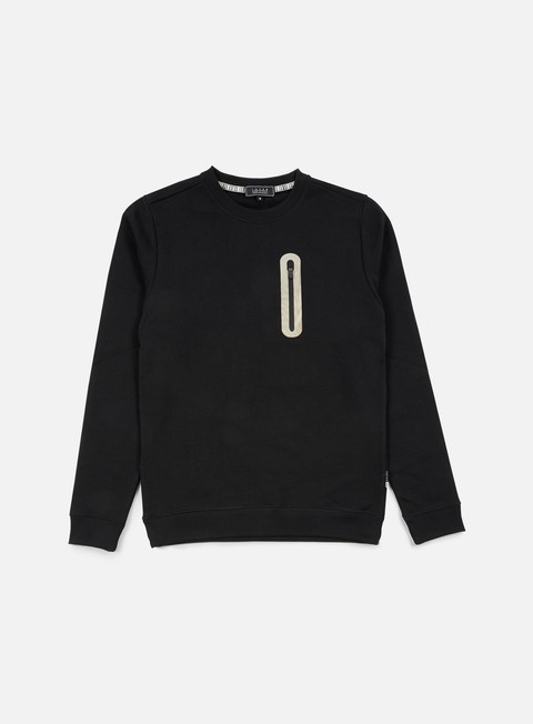 felpe iuter hidden zip pocket crewneck black