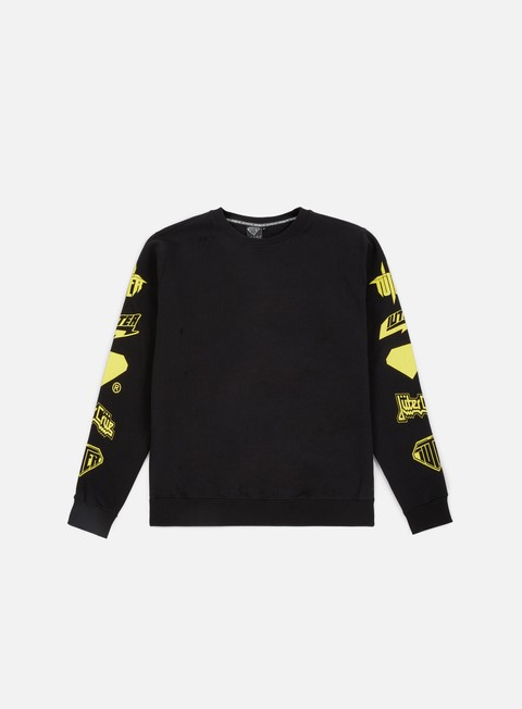 felpe iuter horns crewneck black