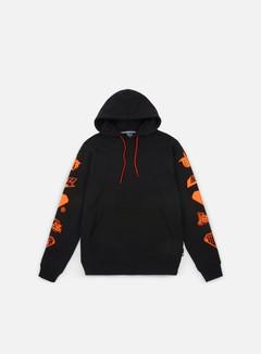 Iuter - Horns Hoodie, Black/Orange