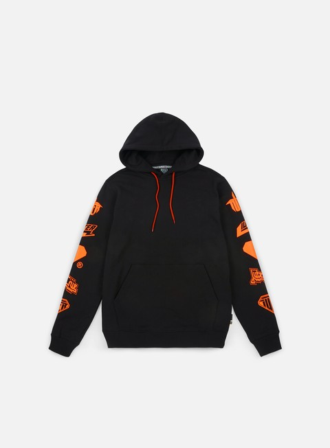 felpe iuter horns hoodie black orange