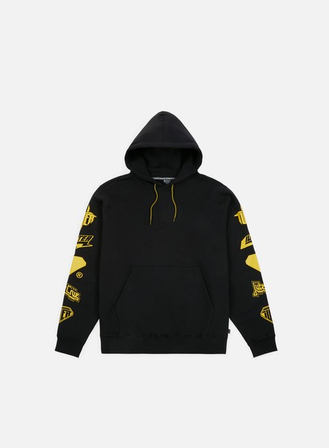felpe iuter horns hoodie black yellow