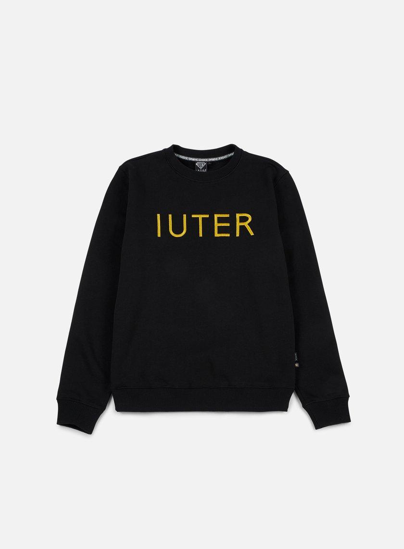 Iuter - Iuter Helvetica Crewneck, Black