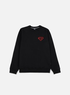 Iuter - Logo Crewneck, Black/Red