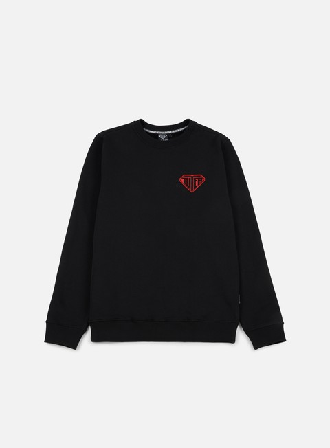 felpe iuter logo crewneck black red
