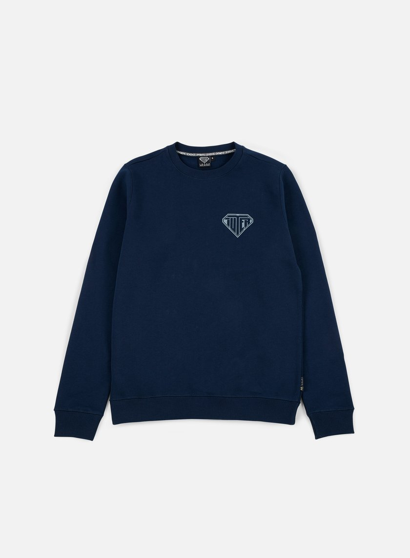 Iuter - Logo Crewneck, Deep Blue/Grey