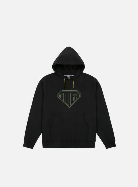 felpe iuter logo hoodie black dark green