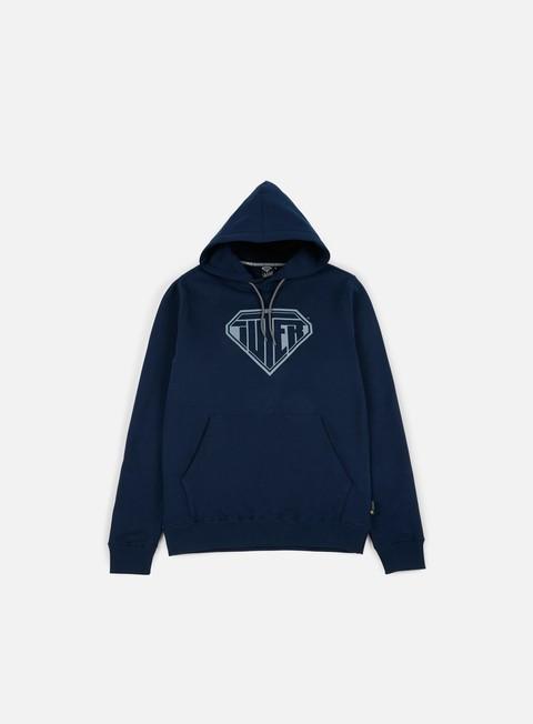felpe iuter logo hoodie deep blue