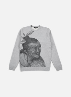 Iuter - Maori Crewneck, Light Grey 1