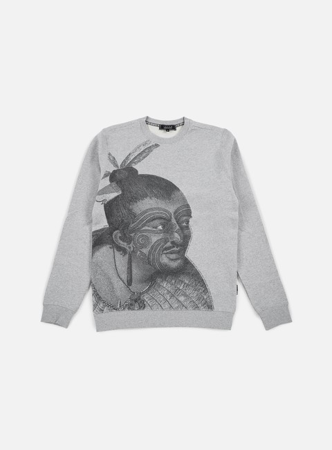 felpe iuter maori crewneck light grey