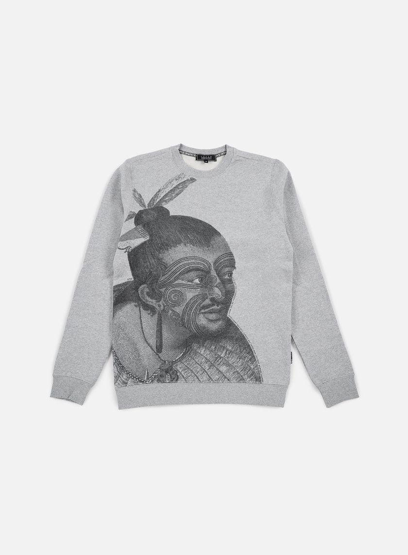 Iuter - Maori Crewneck, Light Grey