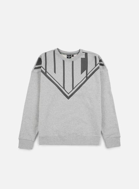 felpe iuter megalogo crewneck light grey