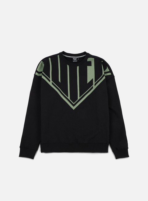 felpe iuter megalogo drop crewneck black