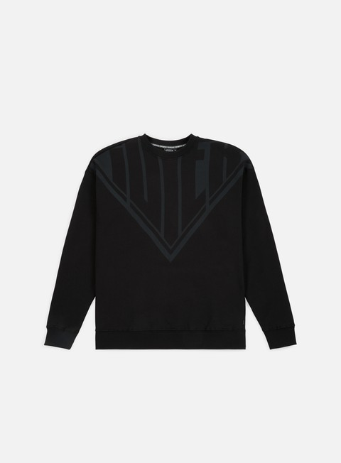 felpe iuter megalogo drop crewneck black grey