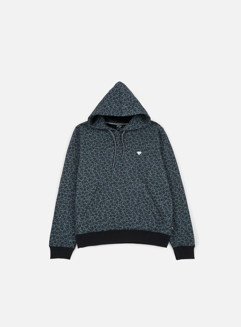 felpe iuter multilogo hoodie dark grey